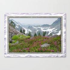 THE LAST OF SUMMER'S SNOW FROM KULSHAN RIDGE Canvas Print