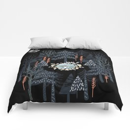 fairytale night forest Comforters