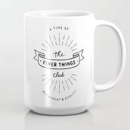 Finer Things Black & White Coffee Mug