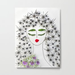 Iva, the dreamy, sensual dancer Metal Print
