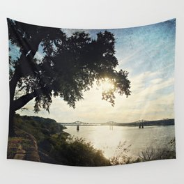 Mississippi River at Natchez Wall Tapestry
