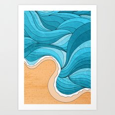Beach Tide Art Print