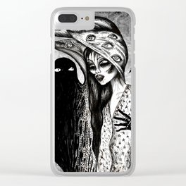 Dialogue With A Demon Clear iPhone Case