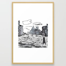 Venice City on the Water . Home Decor, Graphic Design Framed Art Print