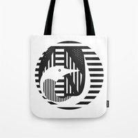 diver Tote Bags featuring diver by Gray