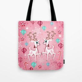 Cute Christmas Reindeer Tote Bag