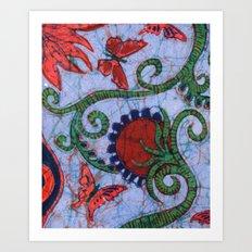 Floral Batik Art Print