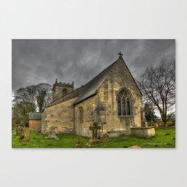 12th Century Church, England Canvas Print