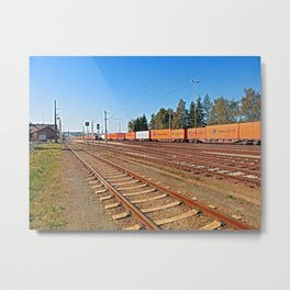 Summerau railway station | architectural photography Metal Print