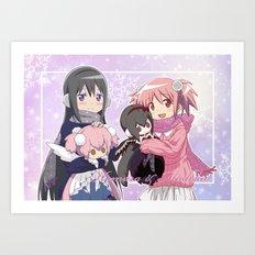Madoka Kaname and Akemi Homura Art Print