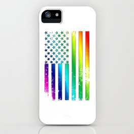 LGBT - Lesbian Gay Bisexual Transgender US Flag Support Homosexual iPhone Case