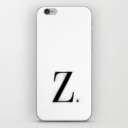 Z. - Distressed Initial iPhone Skin