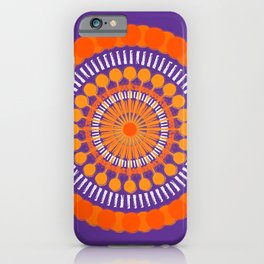 Rough Orange Mandala iPhone Case