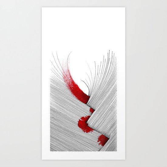 Impact (white version) Art Print