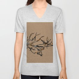 Fall Branches Unisex V-Neck