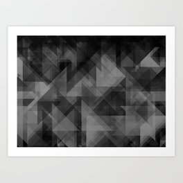 triangles black Art Print