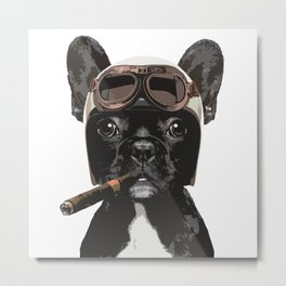 French bulldog Patrol Metal Print