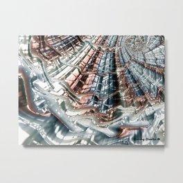 Ice Melt Metal Print