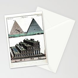 Pyramids and Floating (Suspended) Gardens of Babylon Stationery Cards