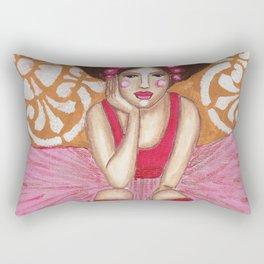 Cecelia in Pink Rectangular Pillow