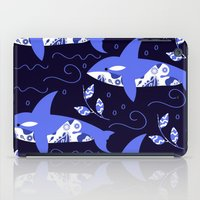 killer whale iPad Cases featuring Killer whale pattern by luizavictoryaPatterns