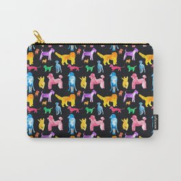 Happy Dogs On Black Carry-All Pouch