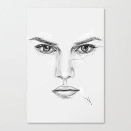 Rey/Daisy Ridley Portrait Canvas Print