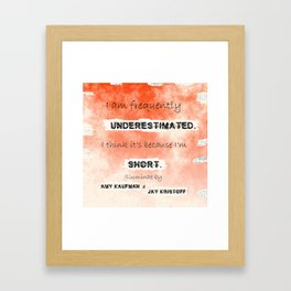 Illuminae - (Amy Kaufman and Jay Kristoff) I think it is because I'm short. Framed Art Print