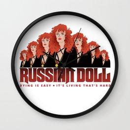 Russian Doll by Neflix (fan art) Variation 2 Wall Clock