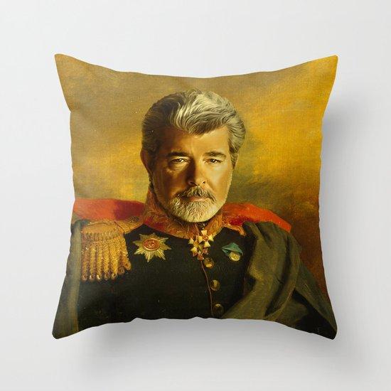 George Lucas - replaceface Throw Pillow