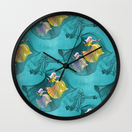 discopatttern turquoise -1a- Wall Clock