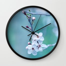 hope springs eternally green Wall Clock
