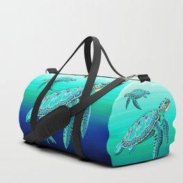 Sea Turtle Turquoise Oceanlife Duffle Bag