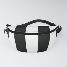 Big Lines Black Fanny Pack