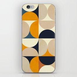mid century abstract shapes fall winter 1 iPhone Skin