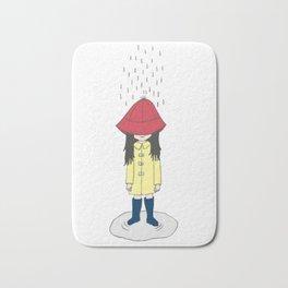 Girl in the Rain Bath Mat
