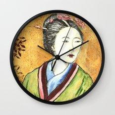 Japanese Woman Wall Clock