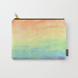 Watercolor Rainbow Wash Carry-All Pouch