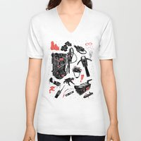 ghostbusters V-neck T-shirts featuring Artifacts: Ghostbusters by Josh Ln