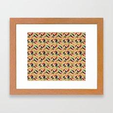 Leafs cute pattern Framed Art Print