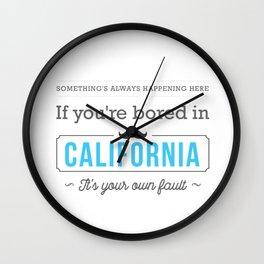 075 California Wall Clock
