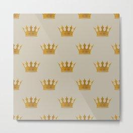 George Grey with Gold Crowns Metal Print