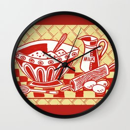 Mixing Up Something Good In The Kitchen Wall Clock
