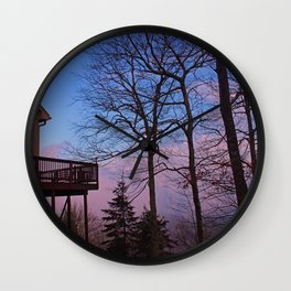 Cabin fever Wall Clock