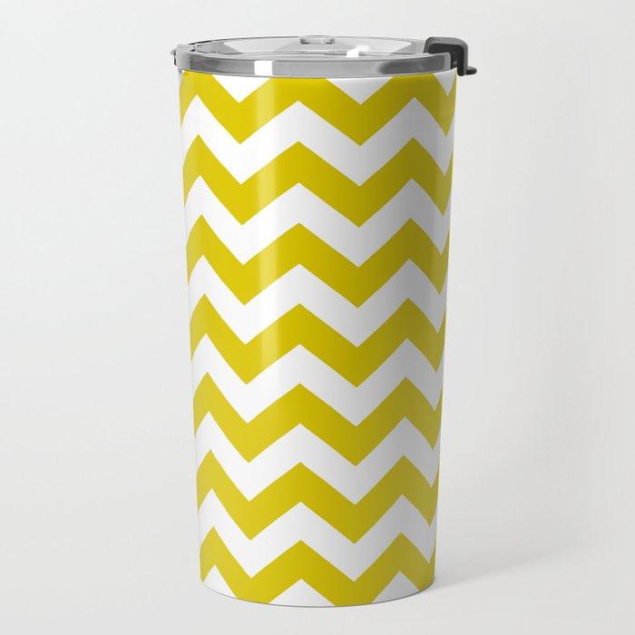 Golden Poppy Safari Chevron Travel Mug
