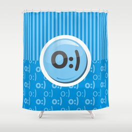 Blue Writer's Mood Shower Curtain