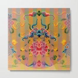 Chinese Decorative Design Metal Print