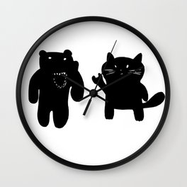 Bear and Cat Wall Clock