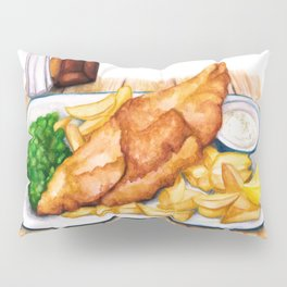 Fish & Chips Pillow Sham
