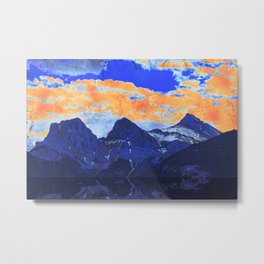 Faith - Hope - Charity - The Three Sisters Mountains, Canmore, AB, Canada Metal Print